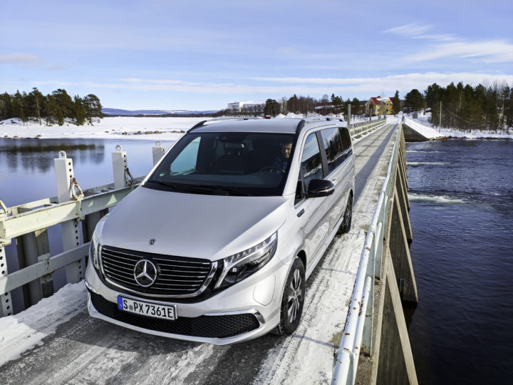 Mercedes-Benz EQV Wintertest | © 2020 Daimler AG